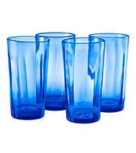 Artland® Kassie Cobalt Blue Set of 4 Highball Glasses