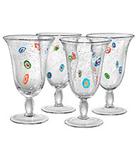 Artland® Fiore Set of 4 Footed Iced Tea Glasses