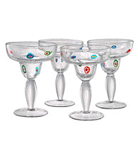 Artland® Fiore Set of 4 Margarita Glasses