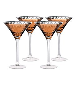 Artland® Leopard Gold Foil Set of 4 Martini Glasses