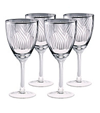 Artland® Zebra Silver Foil Set of 4 Wine Glasses