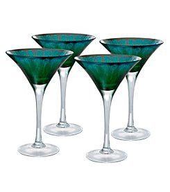 Artland® Peacock Set of 4 Martini Glasses