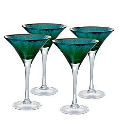 Artland® Peacock Set of 4 Martini Glasses