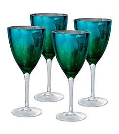Artland® Peacock Set of 4 Wine Glasses