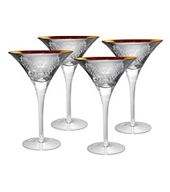 Artland® Brocade Silver Set of 4 Martini Glasses