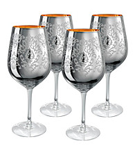 Artland® Brocade Silver Set of 4 Goblets