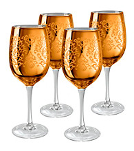 Artland® Brocade Gold Set of 4 Wine Glasses
