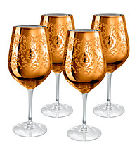 Artland® Brocade Gold Set of 4 Goblets
