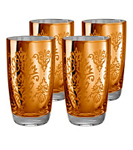 Artland® Brocade Gold Set of 4 Highball Glasses