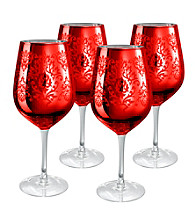 Artland® Brocade Red Set of 4 Goblets
