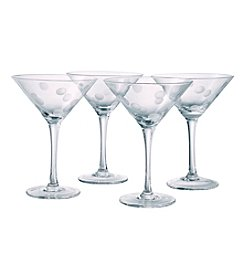 Artland® Polka Dot Set of 4 Martini Glasses