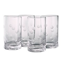 Artland® Polka Dot Set of 4 Highball Glasses