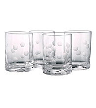 Artland® Polka Dot Set of 4 Double Old Fashion Glasses