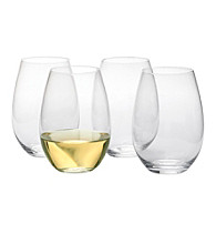 Artland® Sommelier Set of 4 Stemless Tall Wine Glasses