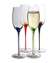 Artland® Splash Set of 4 Champagne Flutes