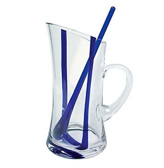 Artland® Samba Blue Pitcher with Stirrers