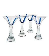 Artland® Samba Blue Set of 4 Martini Glasses