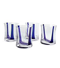 Artland® Samba Blue Set of 4 Double Old Fashion Glasses