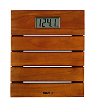 Conair® Thinner Solid Teak Digital Scale