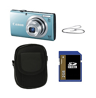 Canon® PowerShot® A2400 IS 16.0 MP Digital Camera Bundle