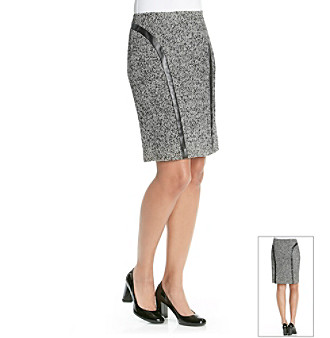 Rafaella® Metallic Tweed Pencil Skirt