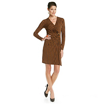 MICHAEL Michael Kors® Chain-Print Wrap Dress