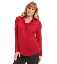 Jones New York Sport® Plus Size Twisted Cowlneck Top