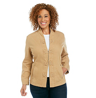 Alfred Dunner® Plus Size Braided-Trim Jacket