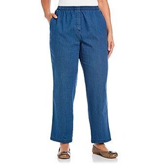 Breckenridge® Plus Size Denim Pull-On Pant