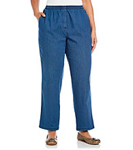 Breckenridge® Plus Size Denim Pull-On Pant