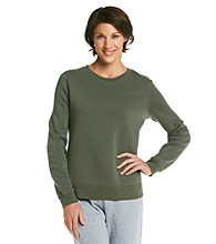 Exertek® Petites' Fleece Crewneck Sweatshirt