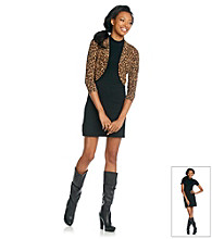 Lennie Animal Print Jacket and Black Dress Set
