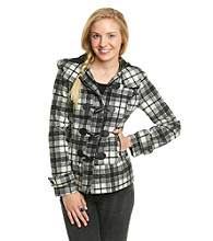 Pink Envelope Juniors' Plaid Jacket