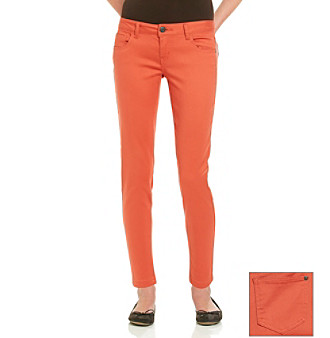 Celebrity Pink Juniors' Paprika Stretch Sateen Skinny Jeans