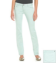 Celebrity Pink Juniors' Baby Mint Stretch Sateen Skinny Jeans