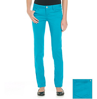 Celebrity Pink Juniors' Ocean Stretch Sateen Skinny Jeans