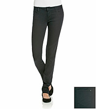 Celebrity Pink Juniors' Black Stretch Sateen Skinny Jeans