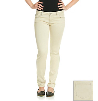 Celebrity Pink Juniors' Chino Stretch Sateen Skinny Jeans