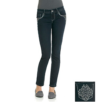 Wallflower Vintage Juniors' Bling Back Jean Leggings