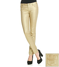 Fire Juniors' Gold Shimmer Skinny Jeans