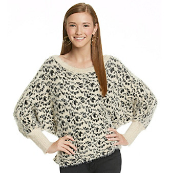 XOXO Juniors' Leopard Print Sweater