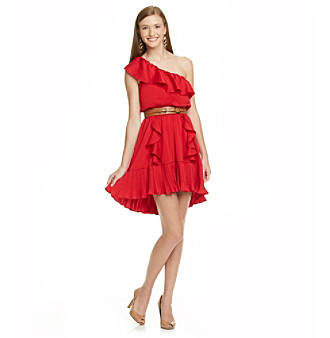 XOXO Juniors' One Shouler Ruffled Dress