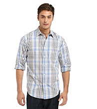 John Bartlett Consensus Men's Blue Reflection Washed Button Down Shirt