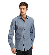 John Bartlett Consensus Men's Striped Washed Button Down Shirt