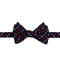Kenneth Roberts Platinum® Men's Red Satin Gingham Bow Tie