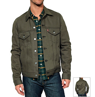 Levi's® Men's Dark Grey Unlined Trucker Jacket