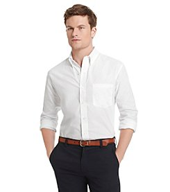 Izod® Men's Long Sleeve Essential Solid Button-Down Shirt