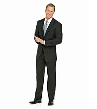 Kenneth Roberts Platinum® Men's Black Shadow Stripe Suit Separates