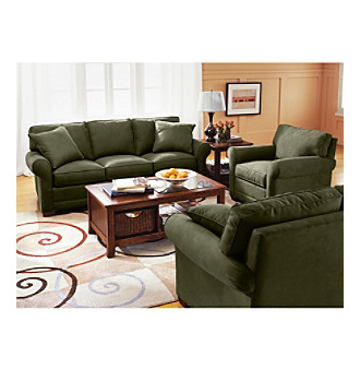 HM Richards Benson Pine Microfiber Living Room Furniture Collection