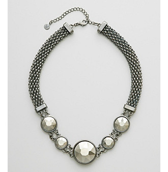 Victor by Victor Alfaro Hematite Braided Faceted Chain Necklace